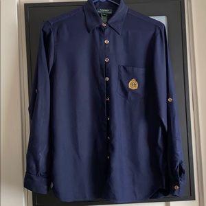 Loren Ralph Lauren navy blue shirt size 6